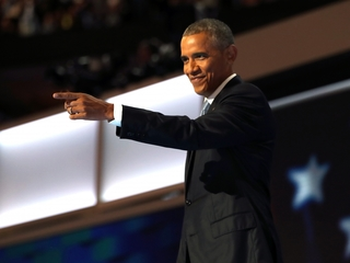 President Obama praises Hillary Clinton at DNC