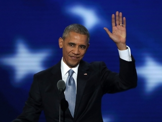 Obama tears up during presidential farewell