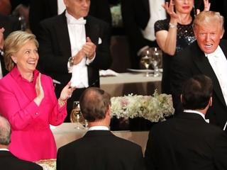Clinton, Trump got awkward at Al Smith dinner