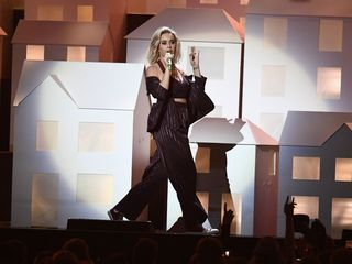 Katy Perry brings politics to Brit Awards