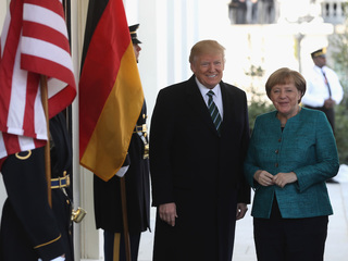 Trump meets with Germany's Merkel at White House