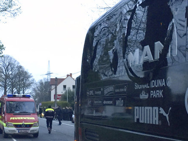 Police detain suspect in Borussia Dortmund team bus blast case