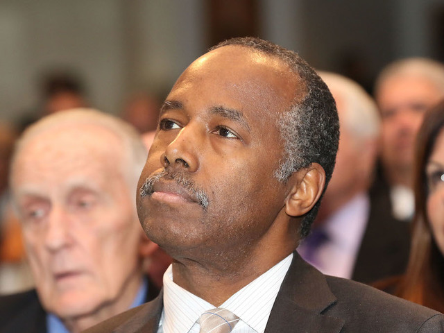HUD Secretary Ben Carson gets trapped in elevator at affordable housing complex class=