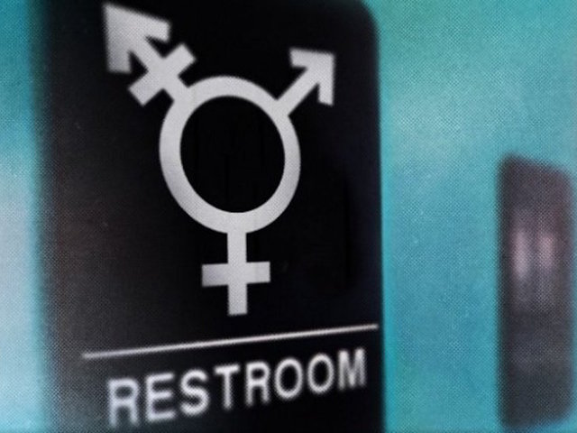 An illustration of a sign for a transgender bathroom.                       CNN