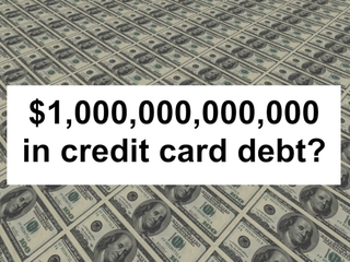 US credit card debt to surpass $1T this year