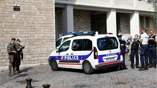 Vehicle plows into French soldiers in Paris