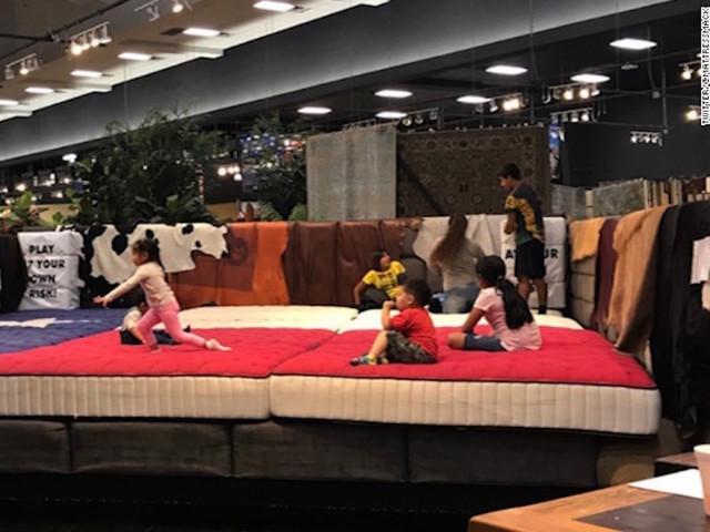 Furniture Store Lets Evacuees Sleep In Its Showroom