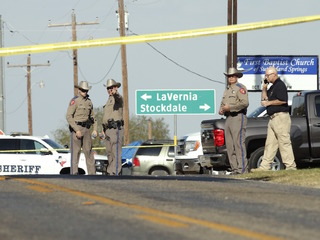 Authorities respond to Texas church shooting