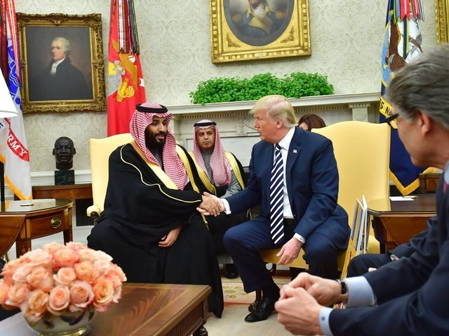 Trump defends arms sales to S. Arabia after talks with Crown Prince