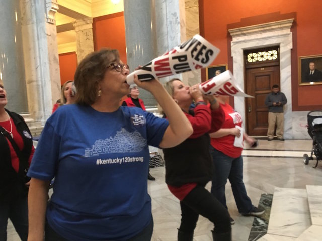 Surprise pension bill wins final approval in Kentucky legislature; Teachers outraged